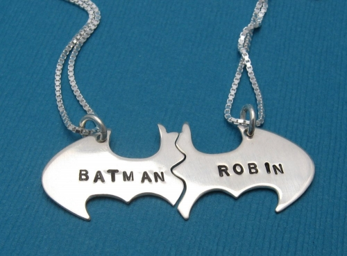 Batman and Robin Friendship Necklace