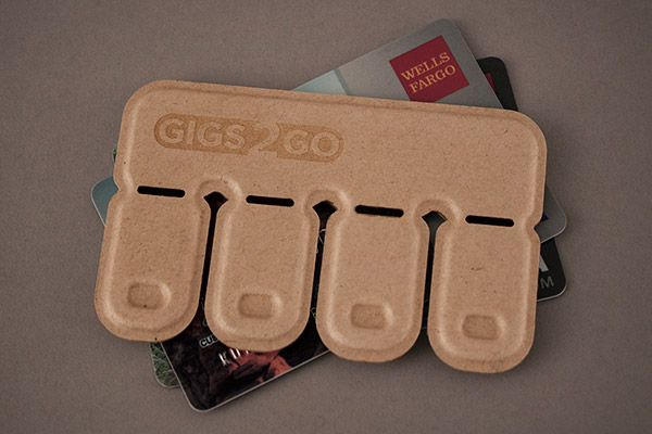 Gigs 2 Go - Molded Paper Pulp USB Drives