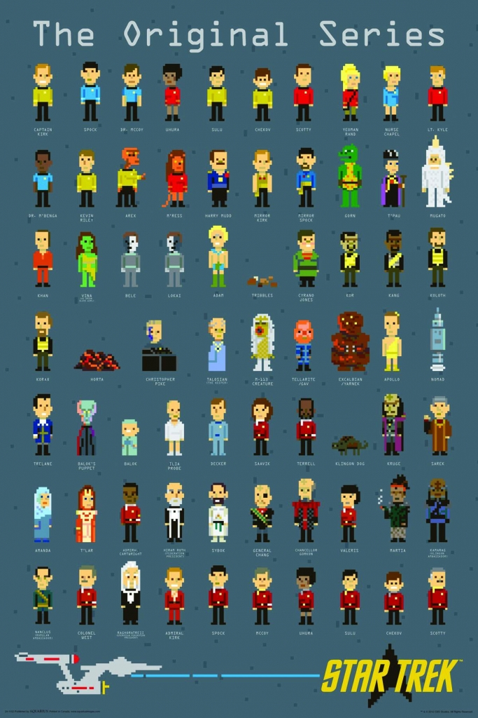 Star Trek: The Original Series - Pixels Poster