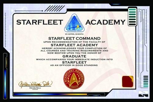 Startfleet Certificate Poster