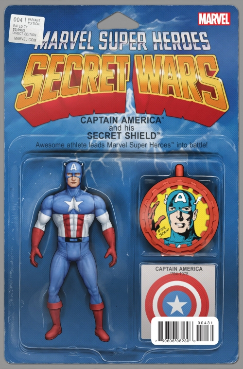Captain America - Secret Wars Variant Action Figure Cover