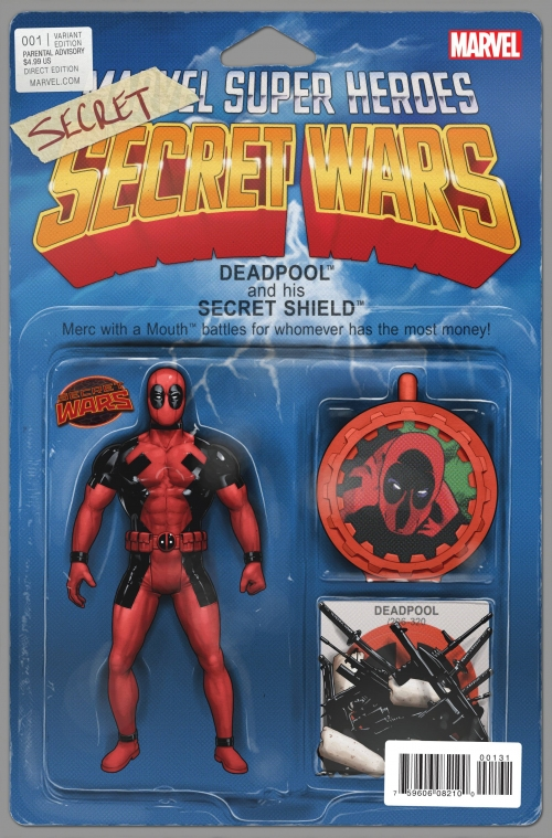 Deadpool - Secret Wars Variant Action Figure Cover