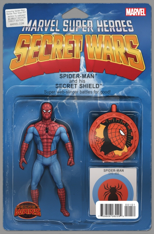 Spider-Man - Secret Wars Variant Action Figure Cover