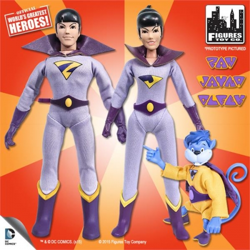 Retro Wonder Twins & Gleek Action Figures