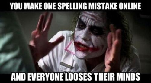 Joker Spelling Mistake Meme