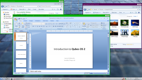 Qubes OS Screenshot