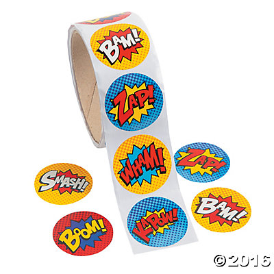 Roll of Super-Hero Stickers