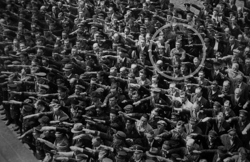 August Landmesser - Blohm + Voss Shipyard - 1936