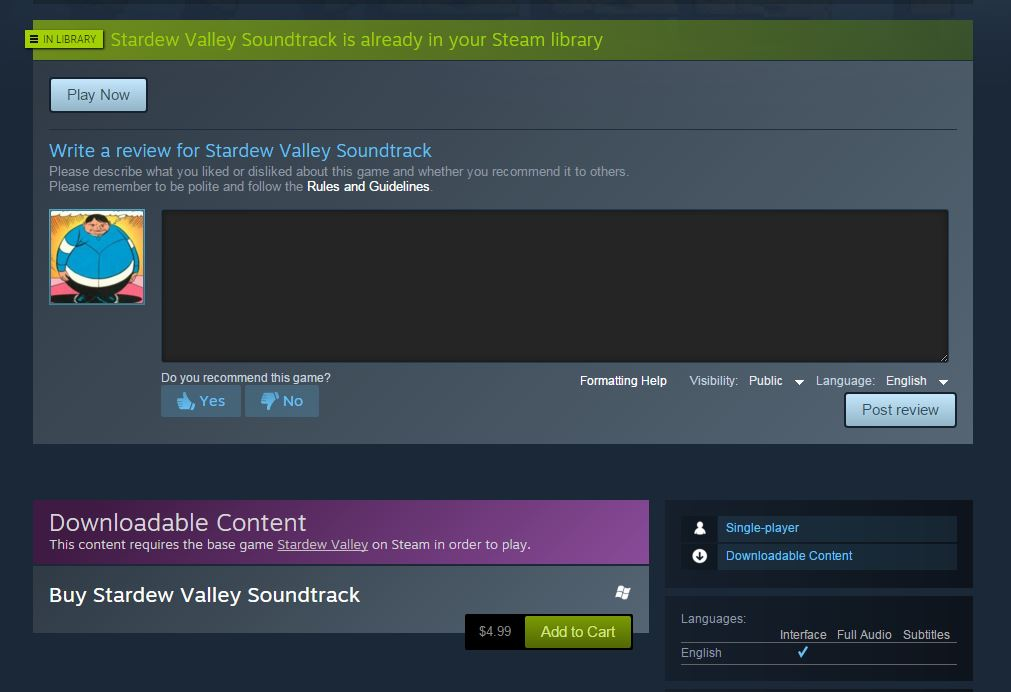 Steam's Ridiculous Handling of Music Purchases – Brian Carnell Com