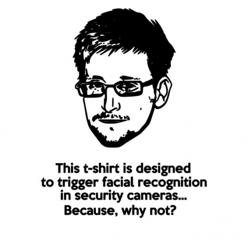 Edward Snowden Facial Recognition T-Shirt