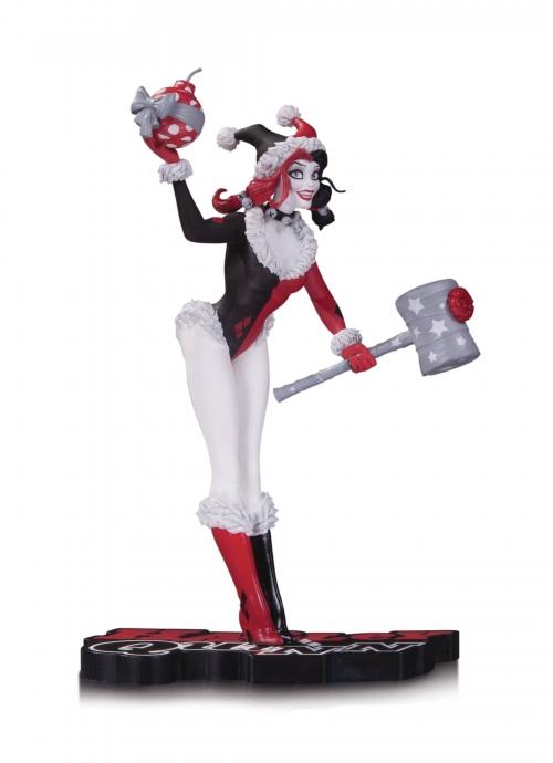 Harley Quinn: Red, Black and White Holiday Statue