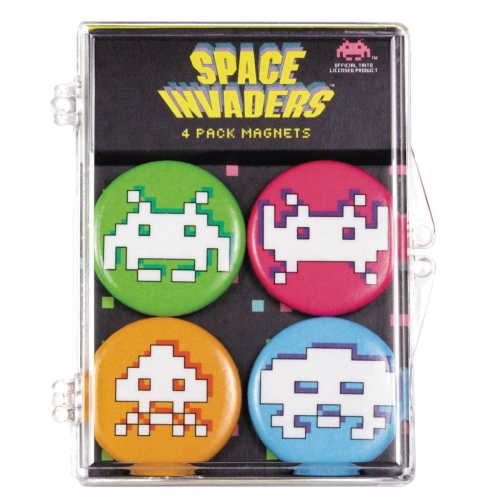 Space Invaders 4-Piece Magnet Set