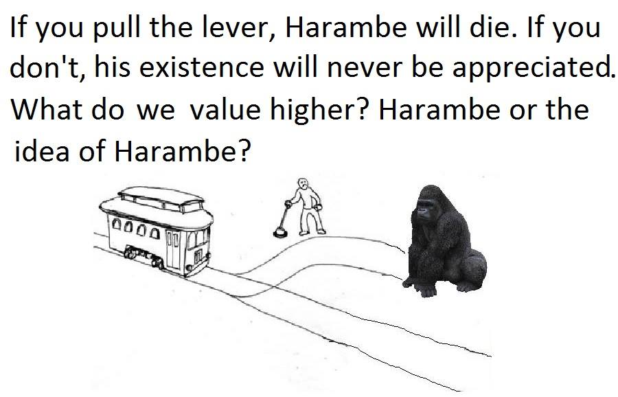 Harambe Meets the Trolley Car Problem