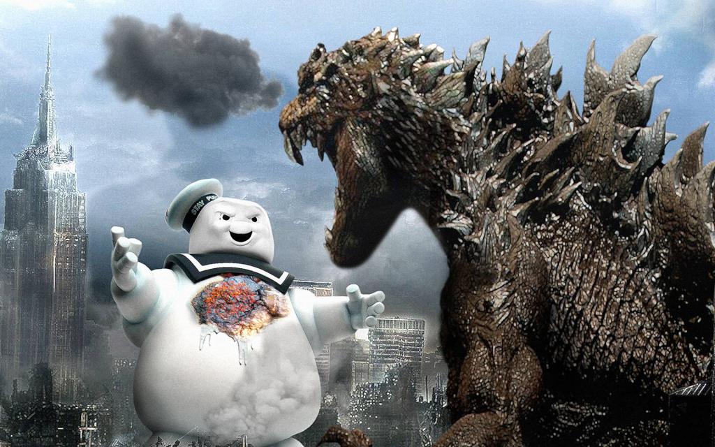 Godzilla vs. The Stay Puft Marshmallow Man