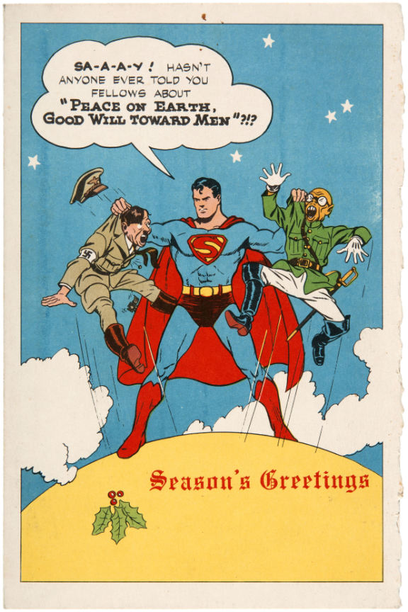 Superman Christmas Card from 1942 – Brian.Carnell.Com