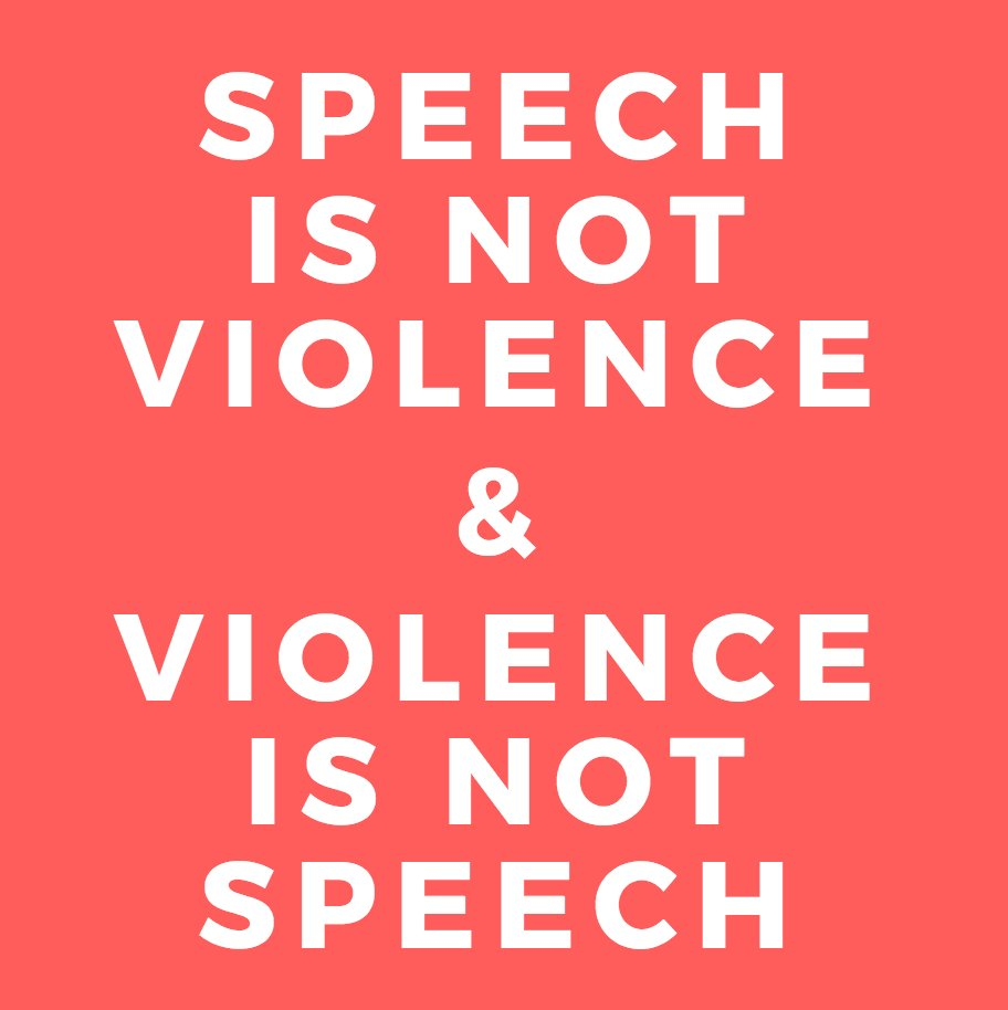 Image result for speech, not violence