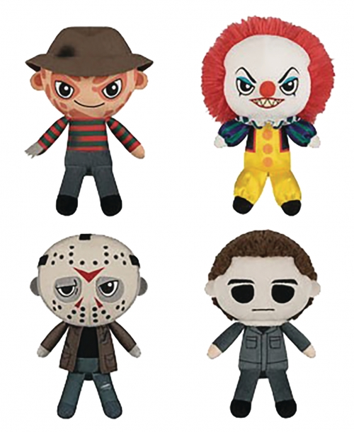 Funko Plush Horror Series: Freddy Krueger, Pennywise, Jason Vorhees, and Michael Myers