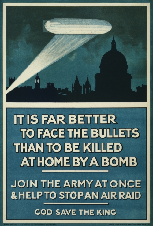 World War I British Propaganda Poster: It Is Far Better To Face The Bullets
