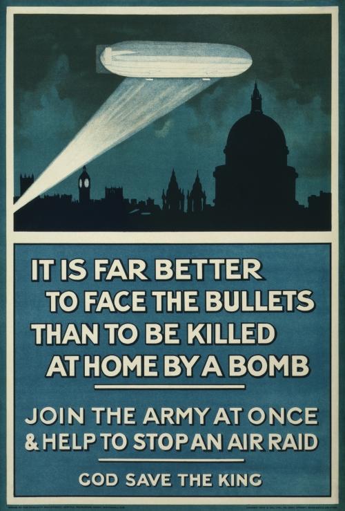 World War I British Propaganda Poster: It Is Far Better To Face The Bullets