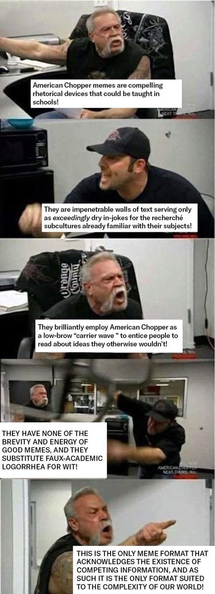 American Choppers Meme Analyzes Itself