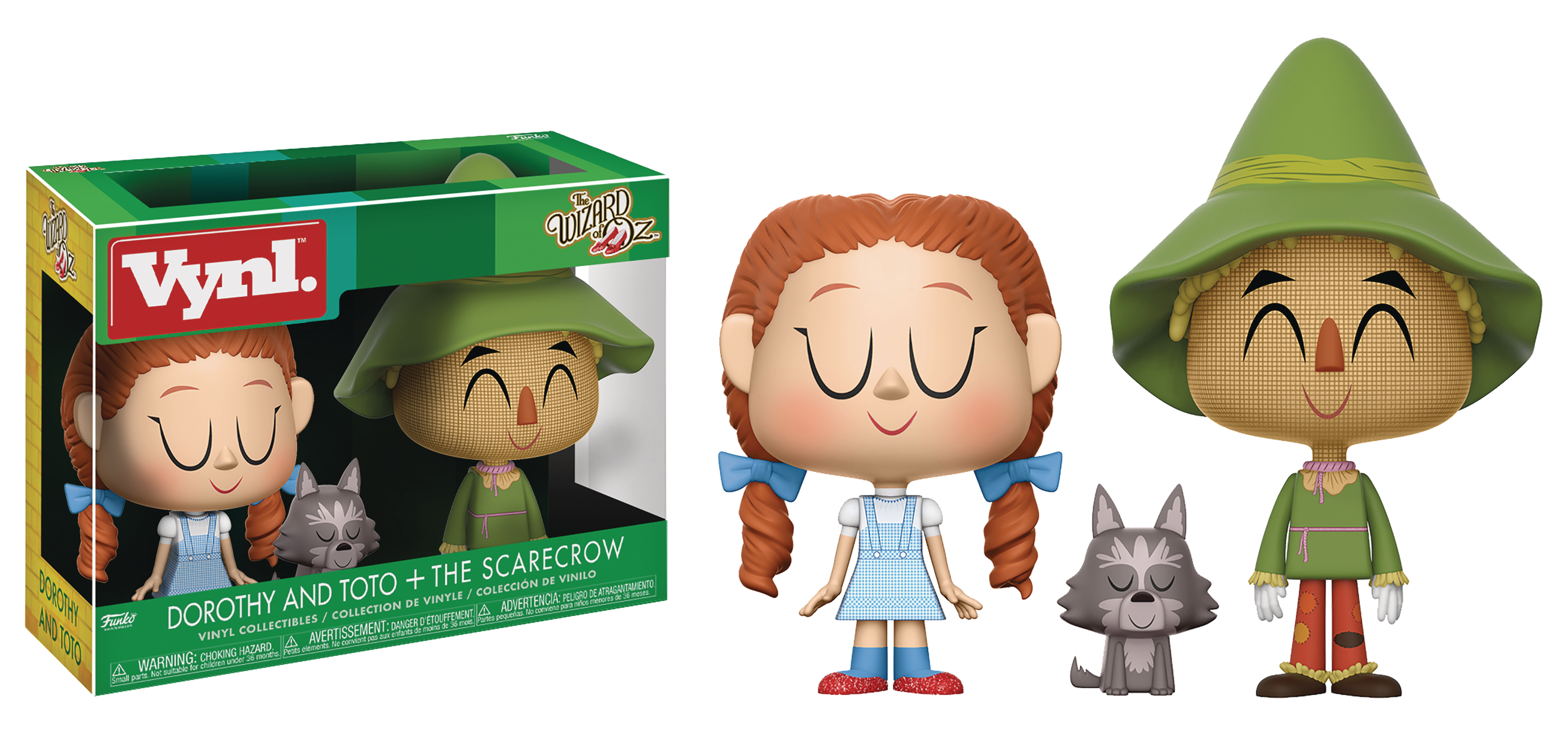 Funko - Vynl Wizard of Of Oz - Dorothy, Toto and The Scarecrow
