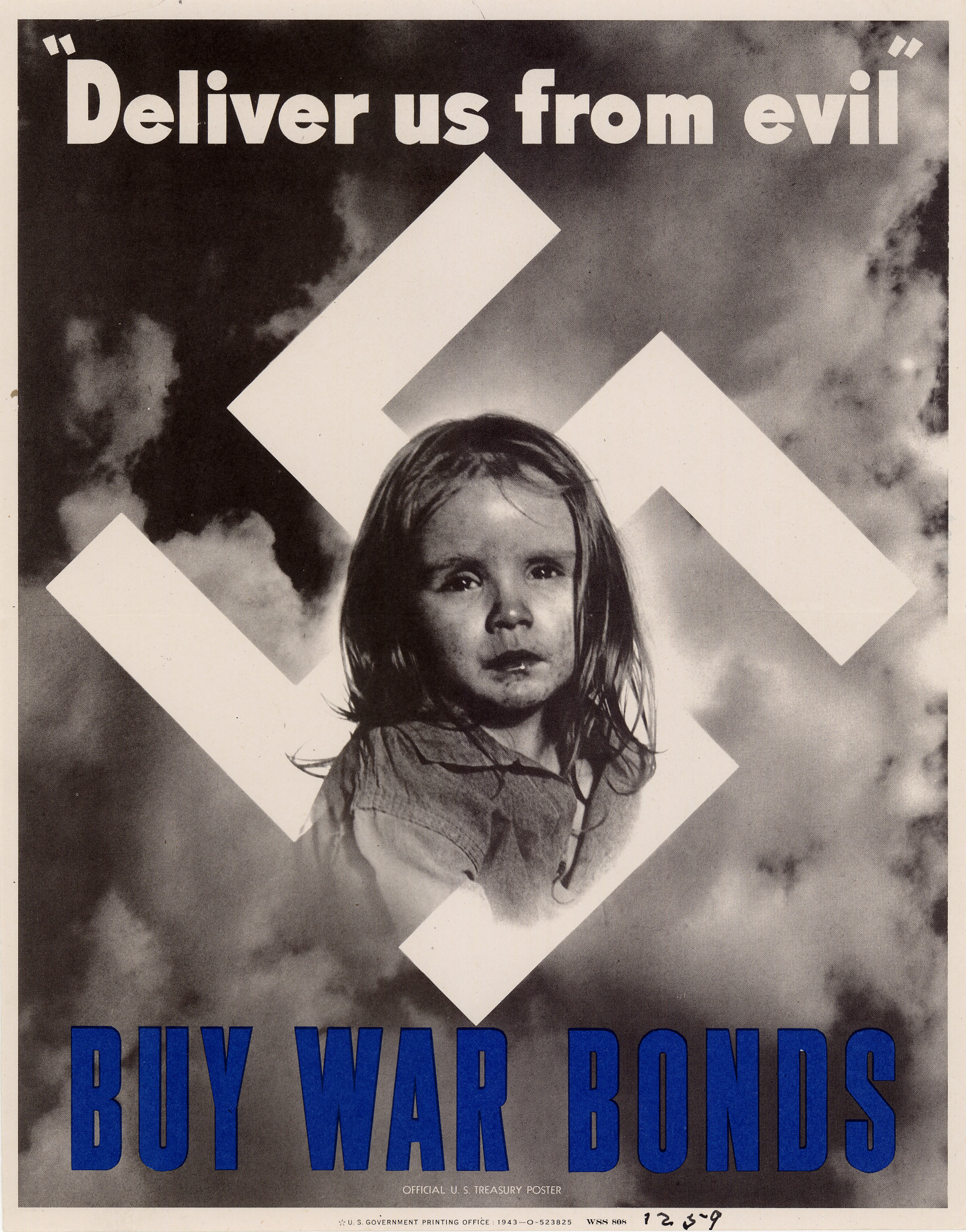 """Deliver Us From Evil"" World War 2 Propaganda Poster"