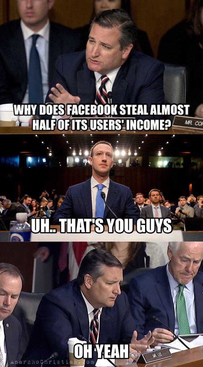 Facebook vs. Ted Cruz Meme