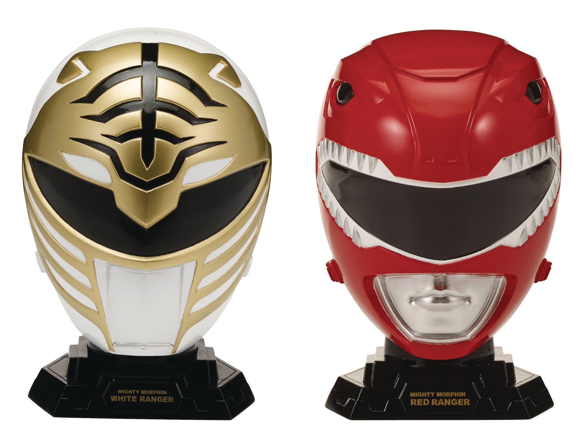 Mighty Morphin Power Rangers Legacy Helmet Collection - Red and White Power Rangers