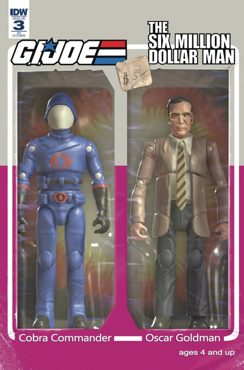 GI Joe vs. Six Million Dollar Man #3 Action Figure Variant Cover