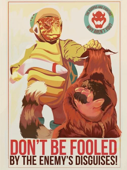 Mario Propaganda Poster