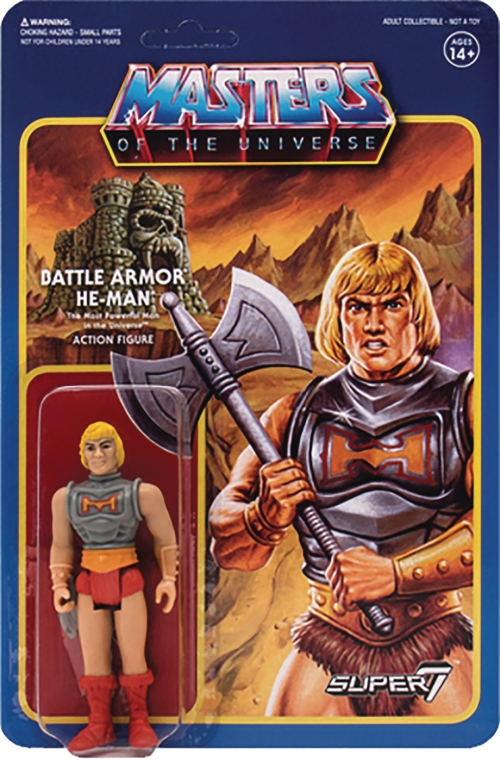 Super 7 Reaction Figures - Masters of the Universe - He-Man (Battle Armor)