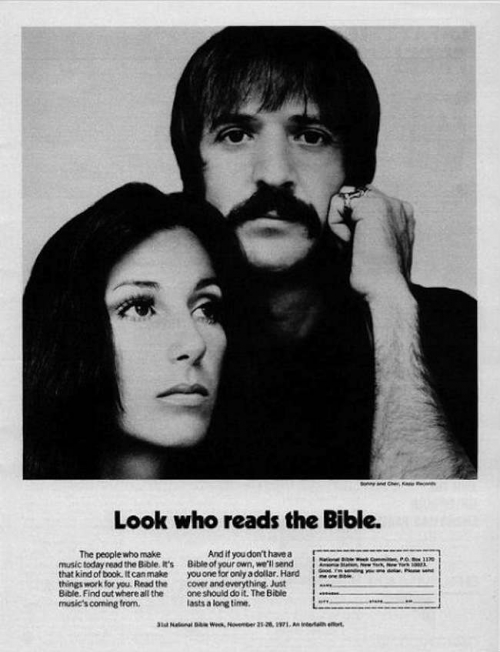 Sonny and Cher Read The Bible