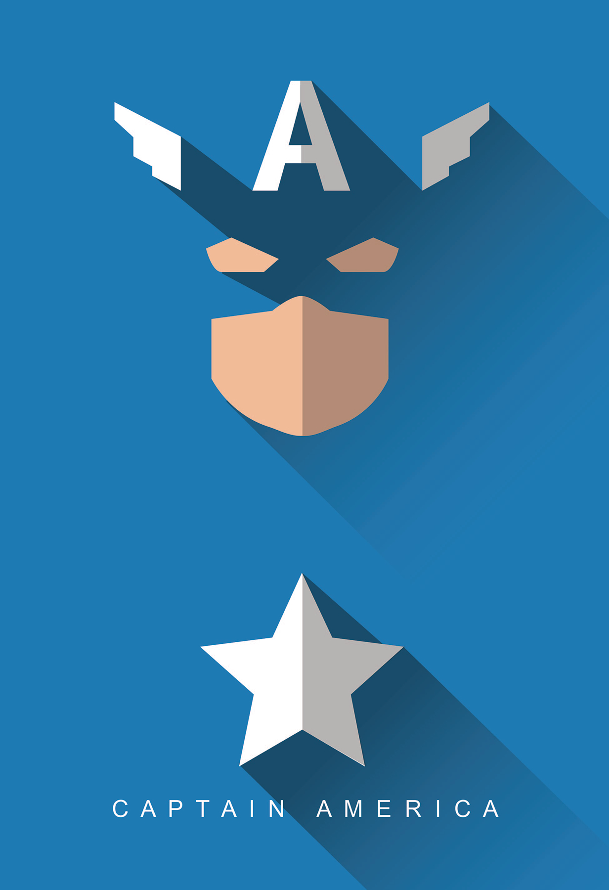 Marvel High Gloss Prints - Captain America