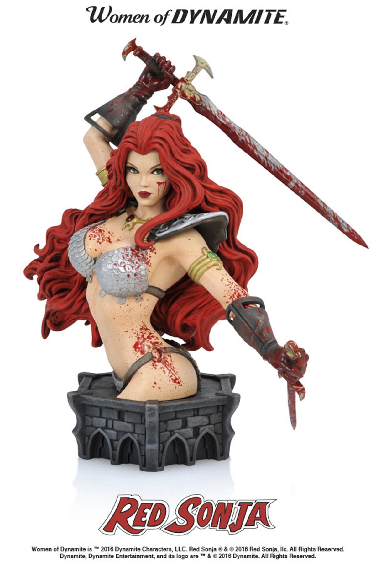 Red Sonja Blood-Splattered Bust