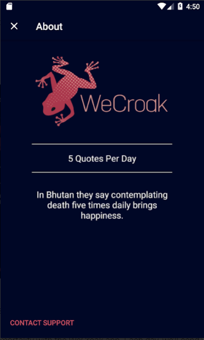 WeCroak for Android