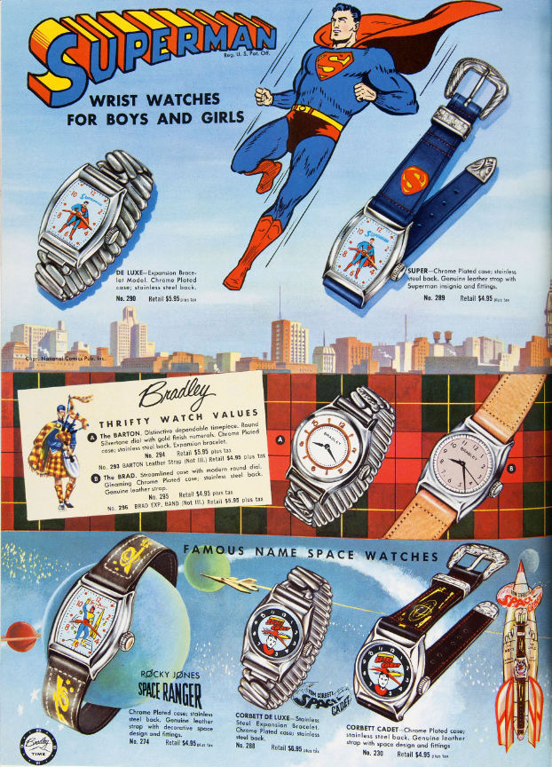 1950s Superman Watches Ad