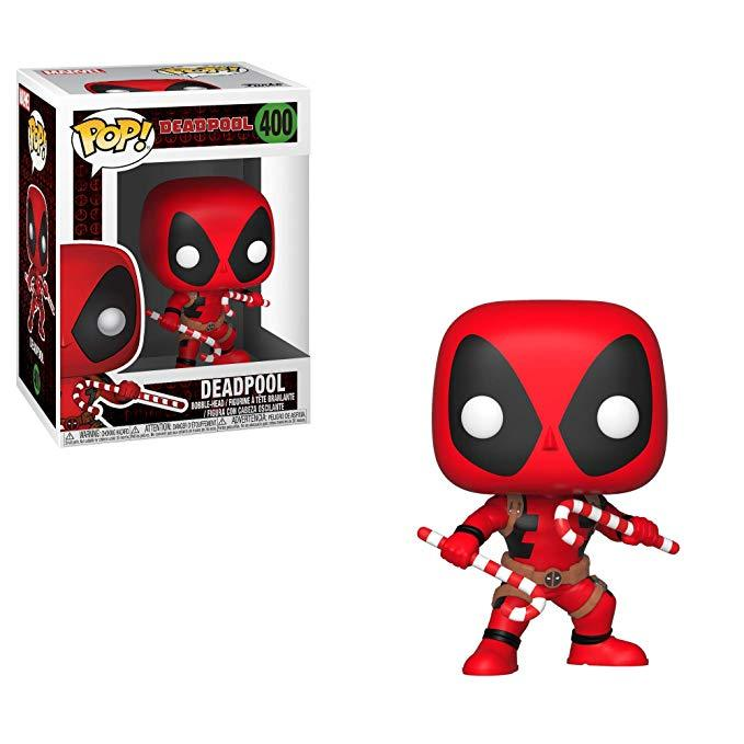 Funko Pop Deadpool with Candy Canes