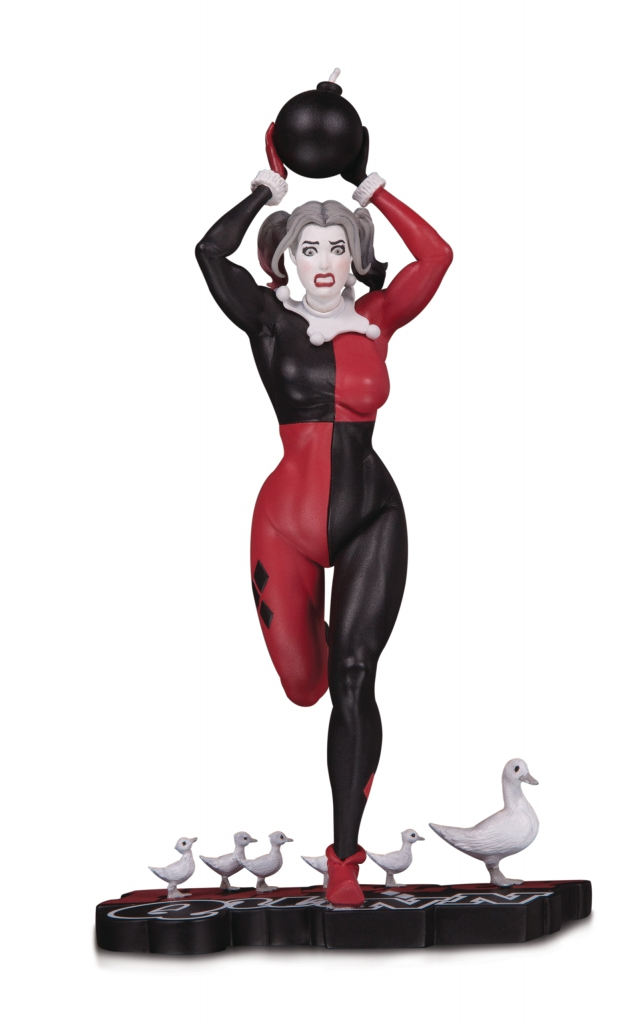 Harley Quinn: Red, White & Black Statute by Frank Cho