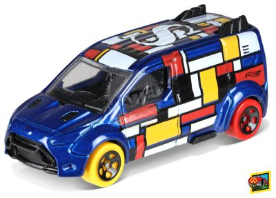 Hot Wheels Mondrian-Style Ford Transit Connect