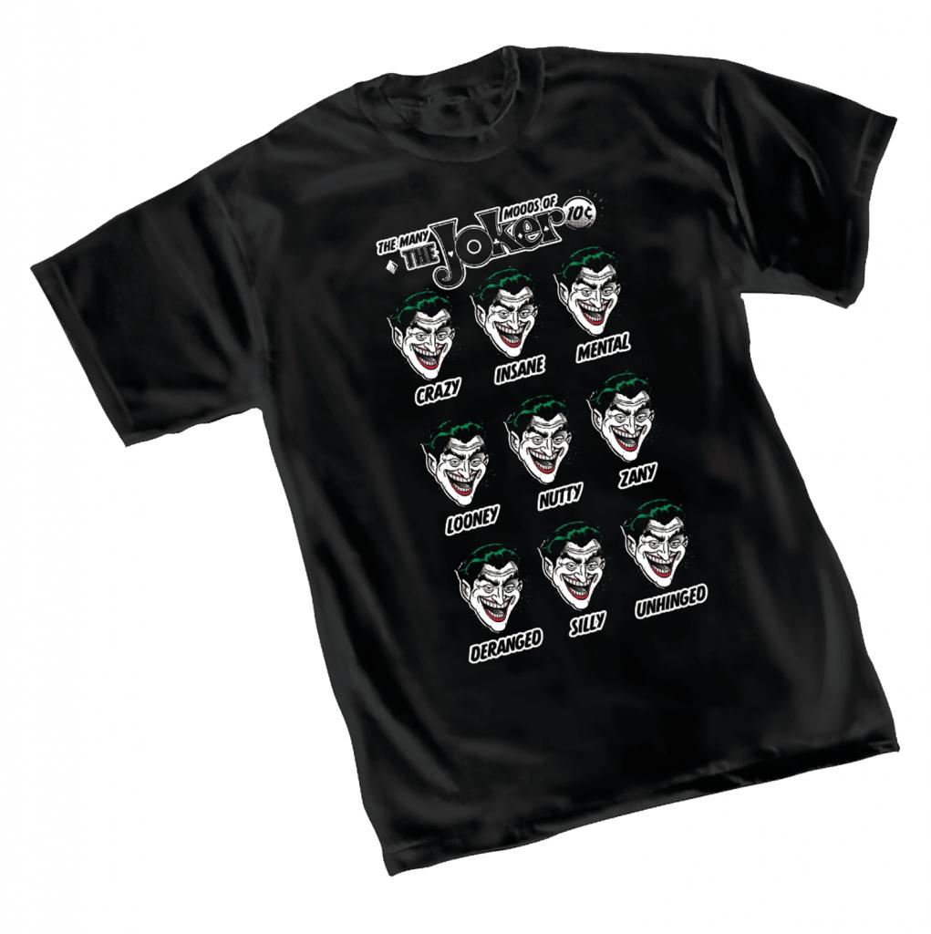 The Many Moods of The Joker T-Shirt