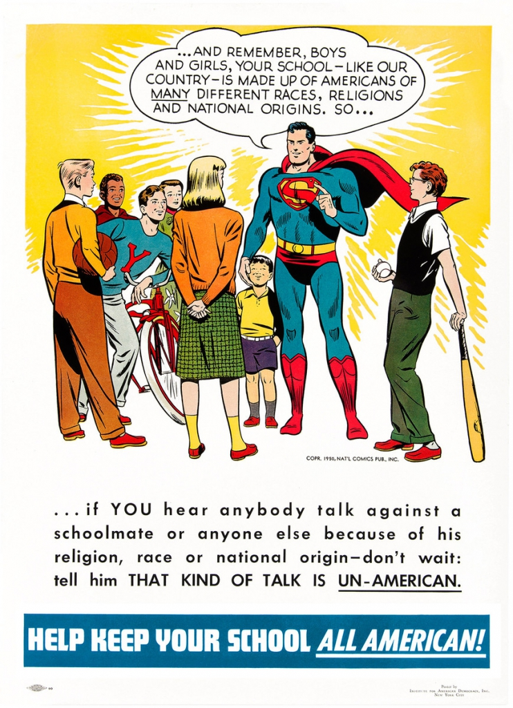 Superman: Help Keep Your School All American Poster