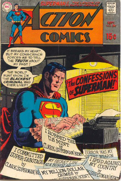 Action Comics 380 Cover - The Confessions of Superman!