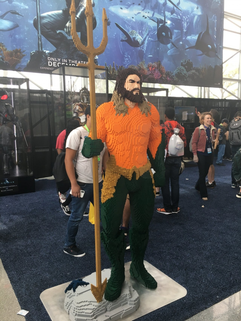 Life-Size Lego Aquaman at New York Comic Con 2018