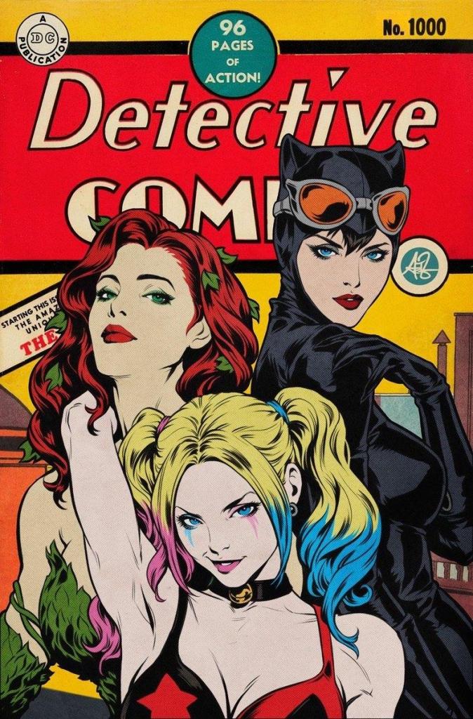 """Detective Comics 1000 - Stanley """"Artgerm"""" Lau Retro Variant Cover"""