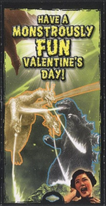 "Godzilla Valentine - ""Have A Monstrously Fun Valentine's Day!"""