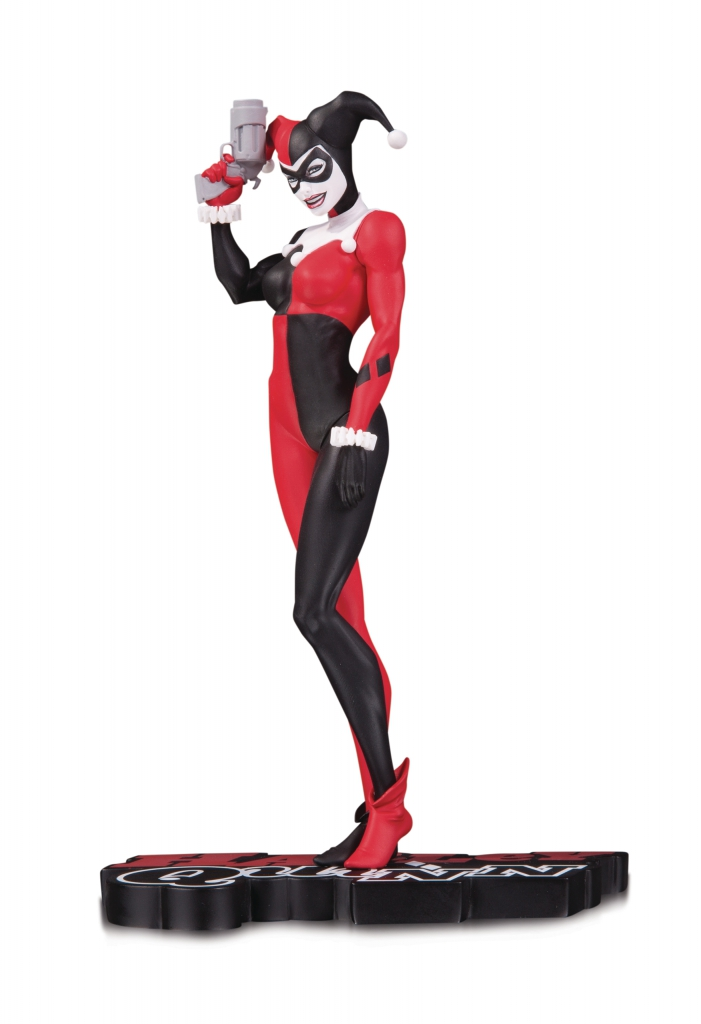 Harley Quinn Red, White & Black Statue by Michael Turner