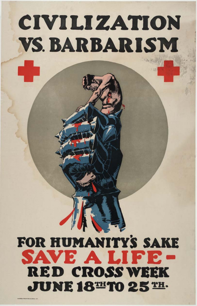 World War I Era Red Cross Propaganda Poster