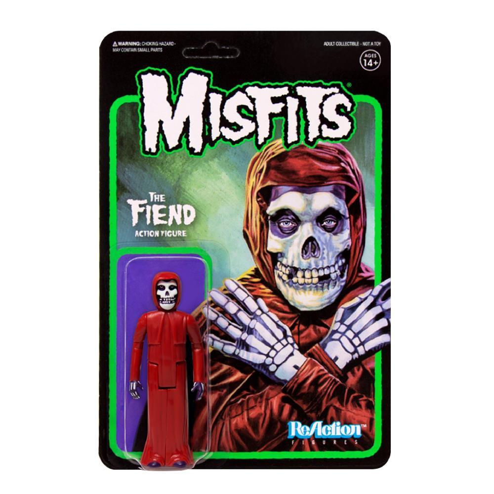 Super7 ReAction Figure - Misfits - The Fiend - Red