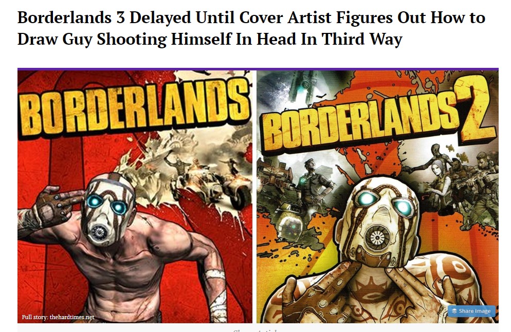 Borderlands 3 Delayed
