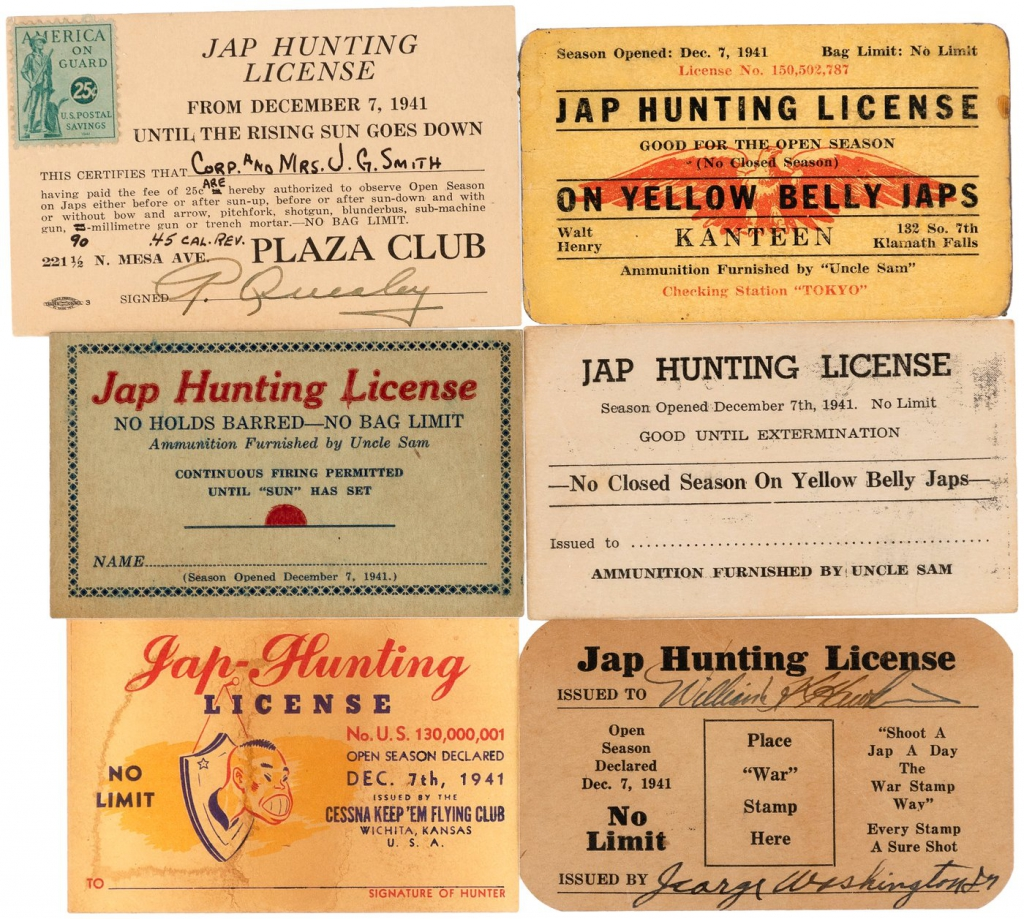 Jap Hunting Licenses